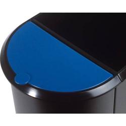 Deckel für Duo-Papierkorb blau