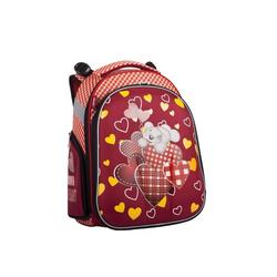 Schulrucksack 2 Zip Motiv »Herz«