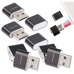 4er Pack Mini-Cardreader für microSD(HC/XC)-Karten bis 128 GB & USB