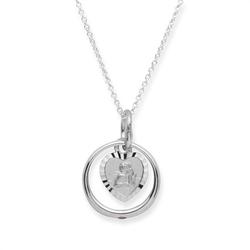 925 Silber Taufkette Rubin Engel