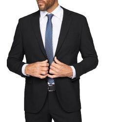 Eterna Sakko ETERNA Anzug-Jacke Jackett klassisches Herren Sakko untersetzte Größen Business-Jackett Schwarz