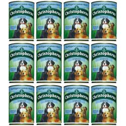 Christopherus Hundenassfutter Junghund, 12 Dosen á 400 g braun 12 Stk.