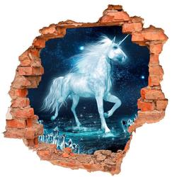 DesFoli Wandtattoo Einhorn Fantasy Kristalle B0719 bunt 110 cm x 106 cm
