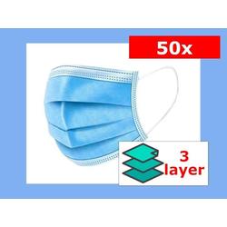 Mund-Nasen-Maske, 3-lagig, EINWEG, günstige Einweg-Maske, Non-sterile, 50er Karton