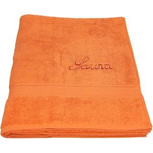 Betz Saunatuch Saunahandtuch Saunatücher France 100% Baumwolle Größe 80x200 cm Farbe orange