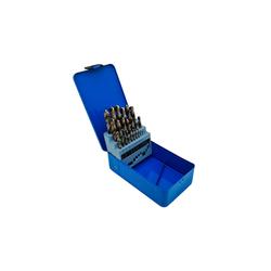 PeTools Metallbohrer 25 tlg. Edelstahl-Bohrerset (1-13mm) HSS-E Co5 Kobalt Cobalt Spiral-Bohrer VA, (25-tlg), HSS-E kobaltlegiert (Co5)