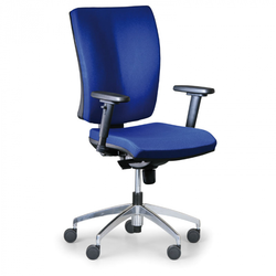 Bürostuhl leon plus, blau, stahlkreuz
