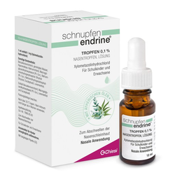 SCHNUPFEN ENDRINE 0,1% Nasentropfen 10 ml