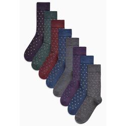 Next Kurzsocken Socken mit kleinen Tupfen, 8er-Pack 43-45