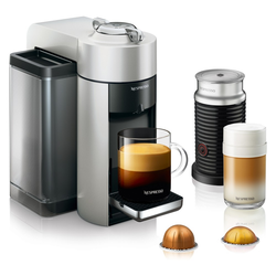 Nespresso Vertuo Coffee and Espresso Machine with Aeroccino Silver by De'Longhi