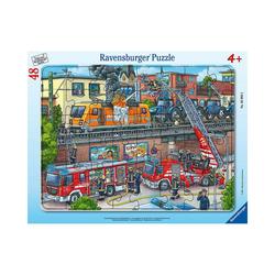 Ravensburger Puzzle Rahmenpuzzle Feuerwehreinsatz an den Bahngleisen,, Puzzleteile