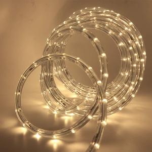 XUNATA 220V-240V LED Lichterschlauch Licht Leiste 36LEDs/m IP65 Wasserdicht Schlauch Seil Lichter für Innen Außen Garten Party Weihnachten Deko(Warmweiß,11M)