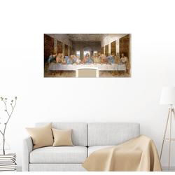 Posterlounge Wandbild, Das Abendmahl 80 cm x 40 cm