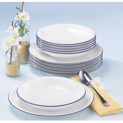 Seltmann Weiden Tafelservice Compact Blaurand, (Set, 12 tlg.), Spülmaschinengeeignet weiß Geschirr-Sets Geschirr, Porzellan Tischaccessoires Haushaltswaren
