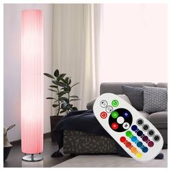 etc-shop Stehlampe, Steh Lampe Wohn Arbeits Zimmer Fernbedienung Deckenfluter dimmbar im Set inkl. RGB LED Leuchtmittel