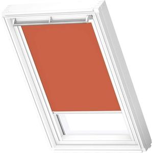 VELUX Original Verdunkelungsrollo (DKL), Weiße Seitenschienen, SK08, Orange