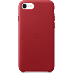 Apple Leder Case (iPhone 7, iPhone 8, iPhone SE (2020)), Smartphone Hülle, Rot