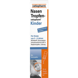 NASENTROPFEN-ratiopharm Kinder Konservier.frei 10 ml