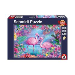 Schmidt Spiele Puzzle Puzzle 500 Teile Flamingos, Puzzleteile
