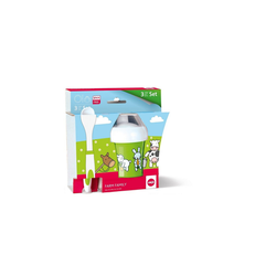 Emsa Kindergeschirr-Set Baby - Set 3 tlg. Farm Family (3-tlg), Kunststoff