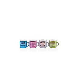 Kaffeetasse mit Spruch  4er-Set