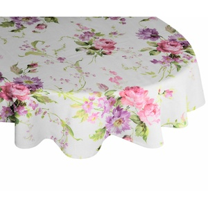 Wirth Tischdecke MONTROSE, oval rosa oval - 130 cm x 190 cm