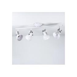 Licht-Erlebnisse Deckenstrahler GINA Wand und Deckenstrahler Weiß retro schwenkbar Vintage Lampe