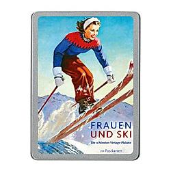 Frauen und Ski, 20 Postkarten