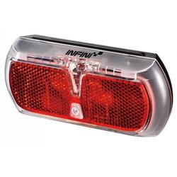 Infini Fahrradbeleuchtung LED-Gepäckträgerleuchte Infini Apollo HR rot mit H