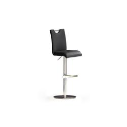 MCA furniture Barhocker Bar.be.cool in Kunstleder schwarz / Gestell Edelstahl