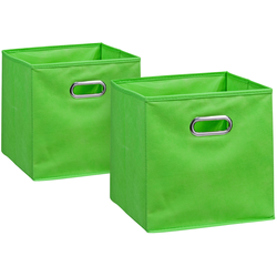 Zeller Present Aufbewahrungsbox, (Set, 2 St.), 28 x cm grün Kleideraufbewahrung Aufbewahrung Ordnung Wohnaccessoires Aufbewahrungsbox