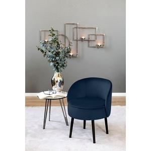 Fink Cocktailsessel ELLIS, mit runder Sitzfläche blau