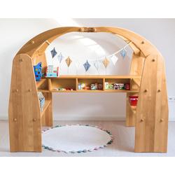BioKinder - Das gesunde Kinderzimmer Kaufladen Anna, und Spielhaus beige