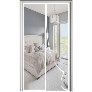 Magnet Fliegengitter Tür Automatisches Schließen Magnetische Adsorption Moskitonetz Tür, für Balkontür Wohnzimmer Terrassentür-White|| 85x205cm(33x80inch)