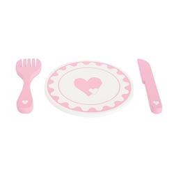 Legler 10890 - Small foot, Set Teller und Besteck, Puppengeschirr, Essgeschirr, Kindergeschirr, Kinderküche