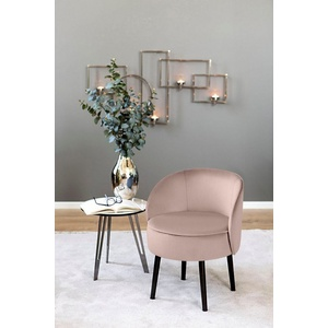 Fink Cocktailsessel ELLIS, mit runder Sitzfläche rosa