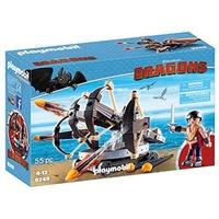 Playmobil Dragons Eret mit 4-Schuss-Feuer-Balliste 9249