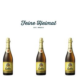 Leffe Blond belgisches Bier  3 x 0,75 Ltr.6,6% Alkohol