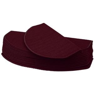 Stufenmatte Stufenmatte MCW-G49, MCW, halbrund, Höhe 0,5 mm, Kantenverstärkung durch Winkelschienen, Antirutsch-Effekt, Schutz vor Abnutzung, Trittschalldämpfung rot halbrund - 65 cm x 25 cm x 0,5 mm