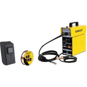 Stanley Schweißgerät Mikromig, mit Fülldraht, Schweißmaschine 230 V / 65-90 A, mit Schweiß-Zubehör - 10880