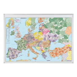 Europakarte »KA650P« grau, Franken