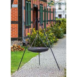 Schwenkgrill - 1,80m incl. WOK/Pfanne (Kessel: WOK-Stahlpfanne Ø 70cm)