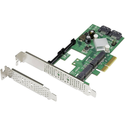 Renkforce 2x SATA und 2x mSATA RAID Controllerkarte PCIe PC-Controller