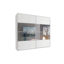 Rauch Steffen Schwebetürenschrank Juwel in weiß matt/Spiegel, B/H ca.  280 x 235 cm
