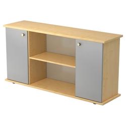 KAPA SB | Sideboard | mit Türen - Ahorn/Silber mit Knauf Sideboard