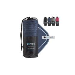 JOURNEXT Reisehandtuch Mikrofaserhandtuch, schnelltrocknend, ultraleicht, antibakteriell (1-St) blau L (180x90cm)