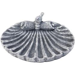 Stone and Style Vogeltränke Vogeltränke Muschel aus massiven Steinguss frostfest