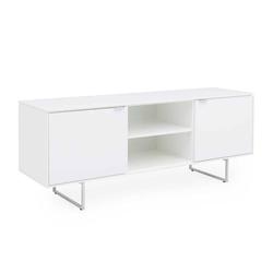 Fernseher Tisch in Weiß 2 türig