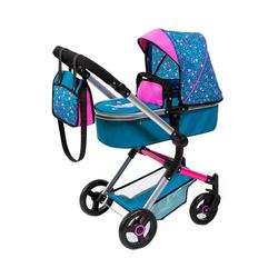 Bayer Puppenwagen Kombi-Puppenwagen Vario, braun blau