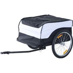 HOMCOM Transportanhänger fürs Fahrrad 135 x 75 x 64 cm (LxBxH)   Transportanhänger Lastenanhänger Fahrrad Anhänger